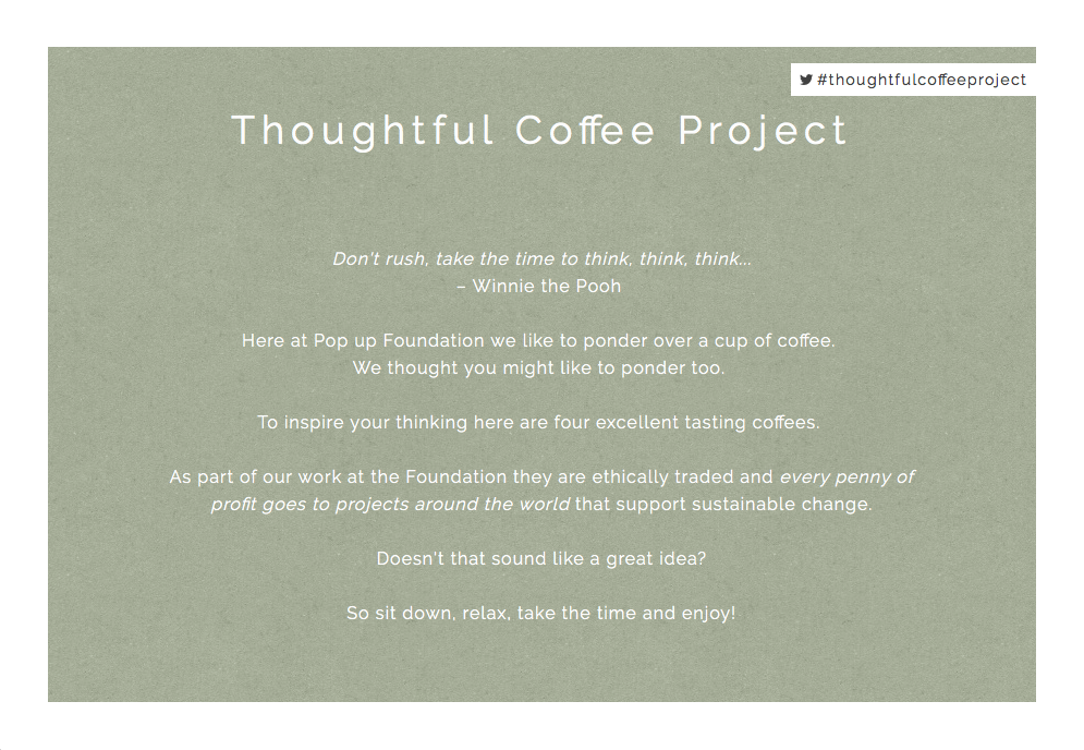 Thoughtful Coffee Project